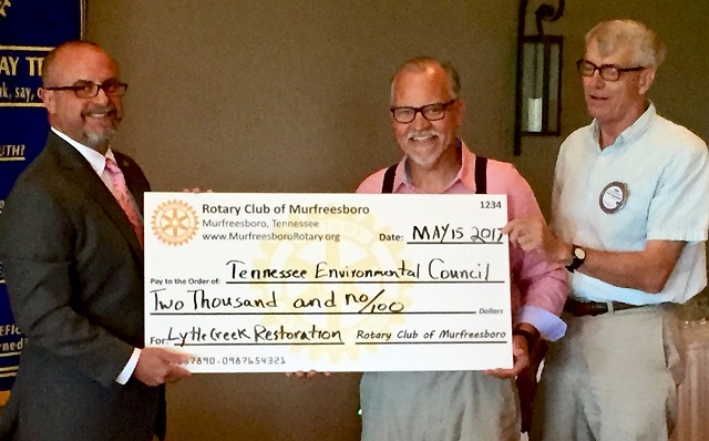 Murfreesboro Noon Rotary Helps Underwrite Bottoms Project